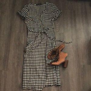 ModCloth Gingham Wrap Dress